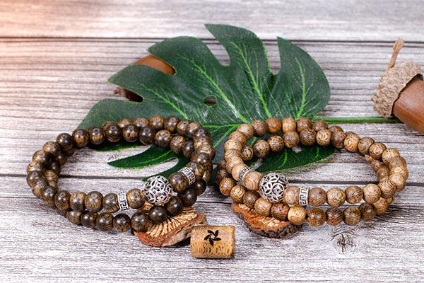 Peace agarwood beaded bracelet