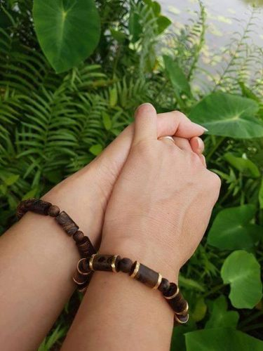 Four-leaf agarwood beaded bracelet with silver s925 - classic photo review