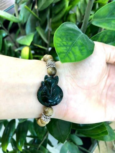Nine-tailed fox agarwood beaded bracelet with silver s925 - classic photo review