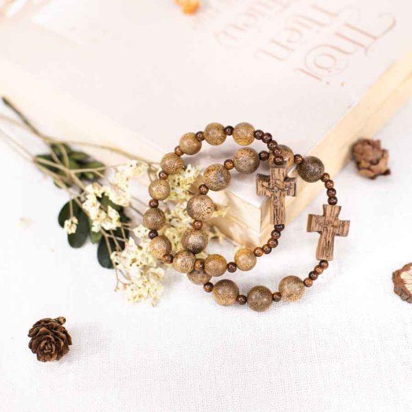 Rosary agarwood bracelet