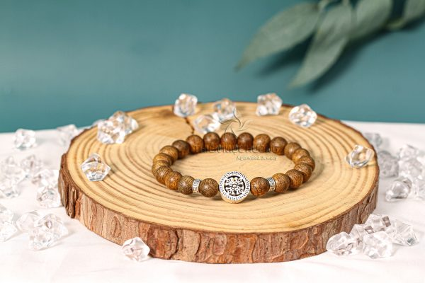 Four-leaf agarwood beaded bracelet with silver s925 - classic