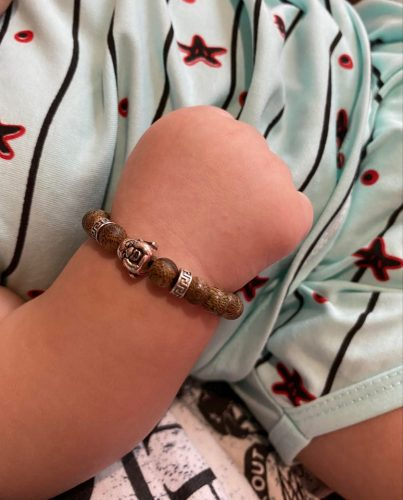 Maitreya agarwood beaded bracelet with silver s925 classic photo review