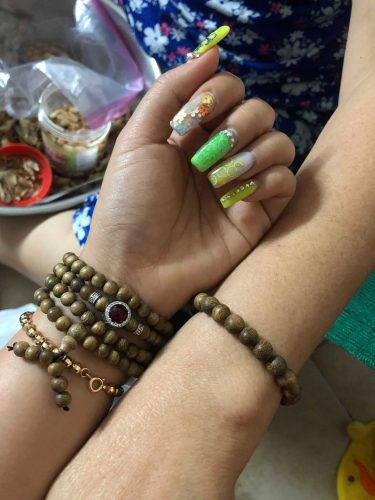 Peace agarwood beaded bracelet with silver s925 - classic photo review