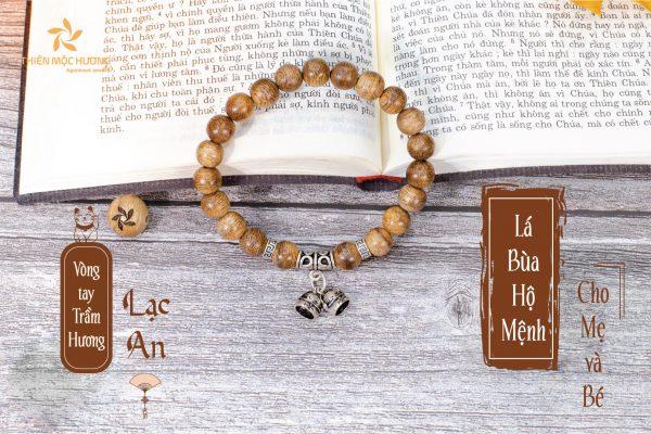 Bell baby agarwood beaded bracelet