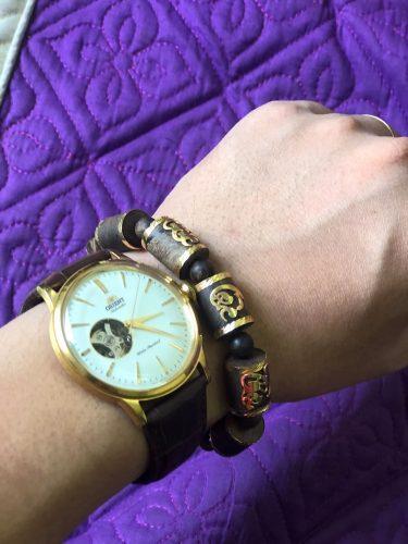 Phuc Loc Tho Bamboo indonesia agarwood bracelet with 18k gold - premium photo review