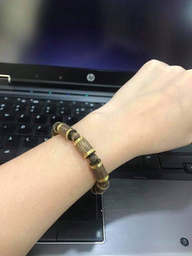 Golden bamboo agarwood bracelet - classic photo review