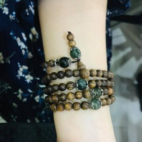 Gem 108 beads mala with birthstone - classic photo review