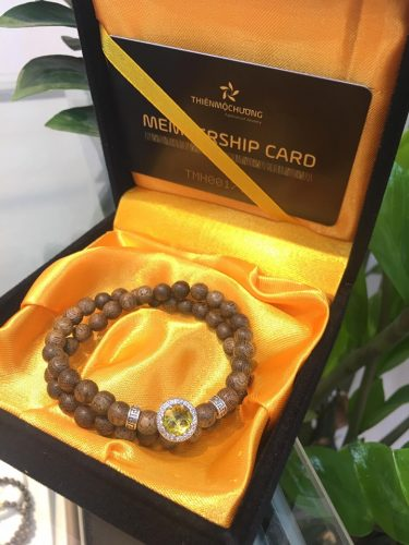 Agarmoon agarwood beaded bracelet with silver s925 - classic photo review