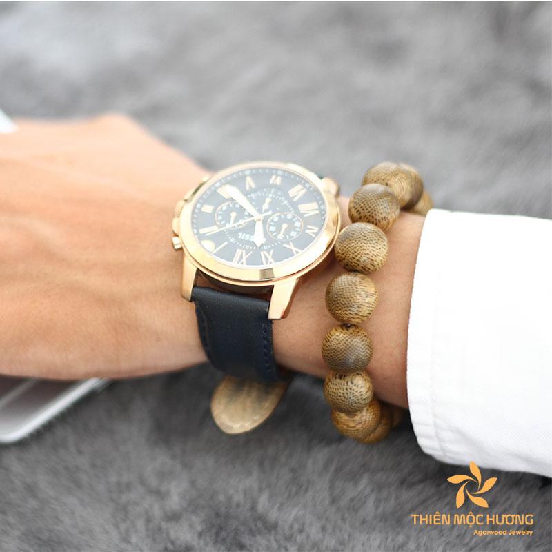 Laos Agarwood Bead Bracelet - Male