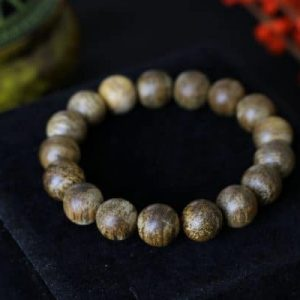 Laos Round Single Agarwood Bracelet VIP