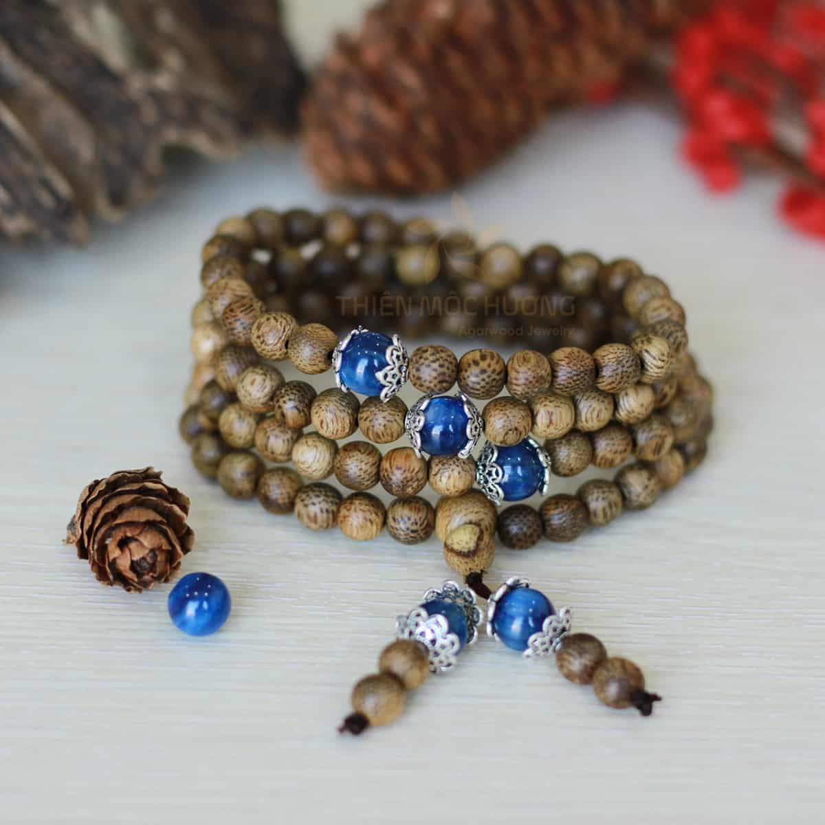 108 Agarwood Jade bracelet