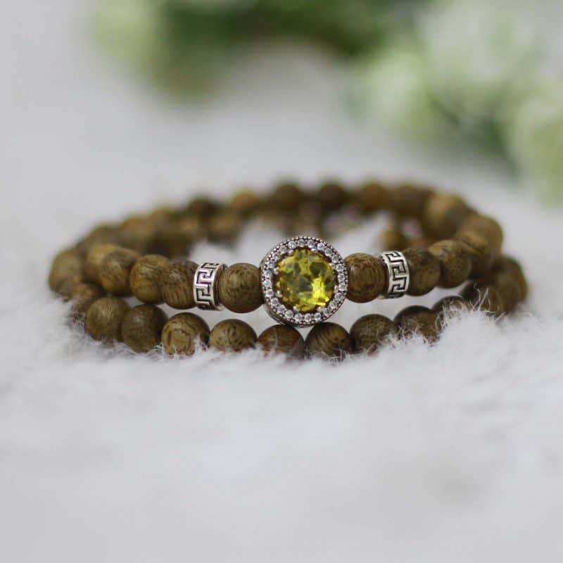 Yellow Moon Charming Bracelet