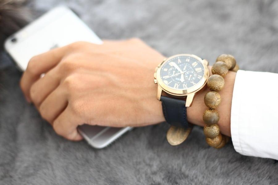 Round Single Agarwood Bracelet