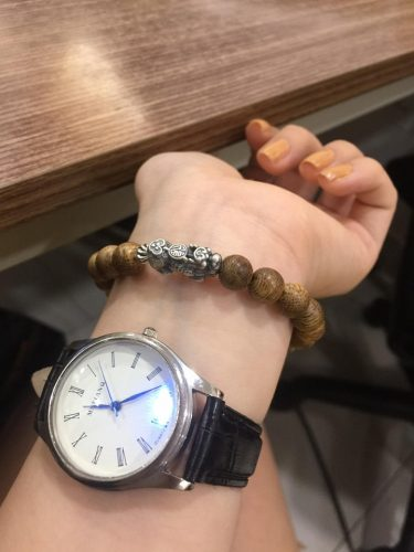 Pixiu agarwood beaded bracelet with silver s925 - classic photo review