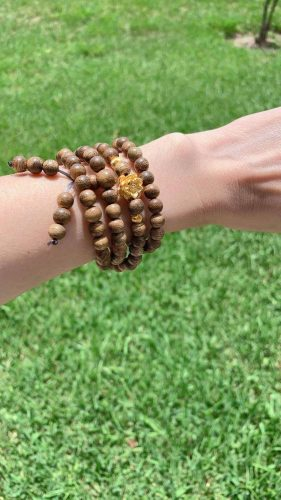 Lotus 108 mala beads bracelet with 24k gold - classic photo review
