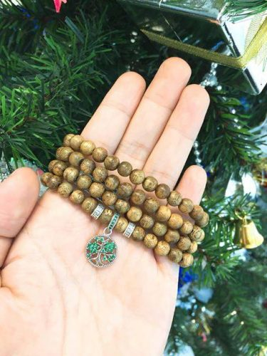 Family tree agarwood beaded bracelet with Silver S925 - Classic photo review