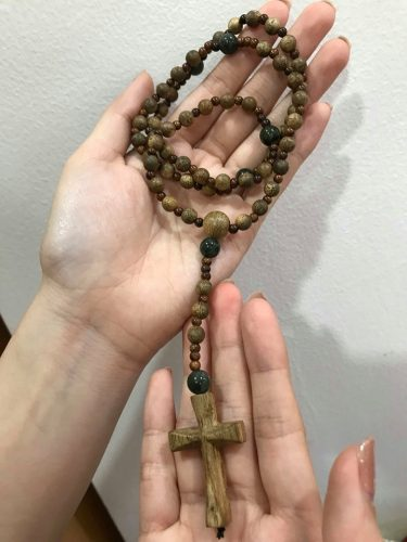 Double Wooden Rosary bracelet - agarwood classic photo review