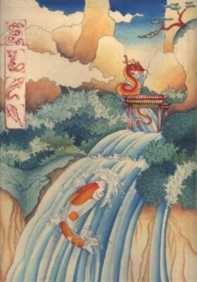 It is said that if certain carp called Yulong can climb the cataract they will transform into dragons