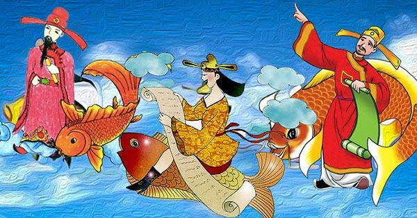 The Story of Ông Táo, the Kitchen God Who Rides a Carp to Heaven