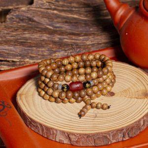 Agarwise Blissful Beans 108 mala beads bracelet - classic