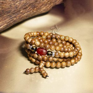 Agarwise Blissful Beans 108 mala beads bracelet - classic
