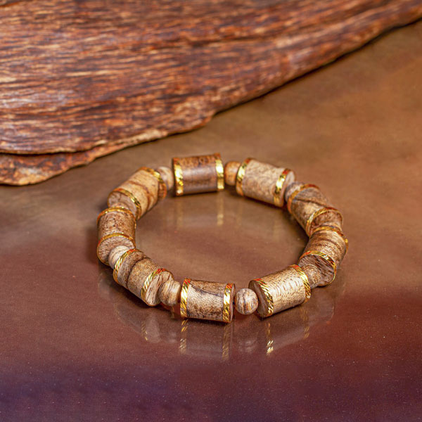 Philippines golden bamboo agarwood bracelet
