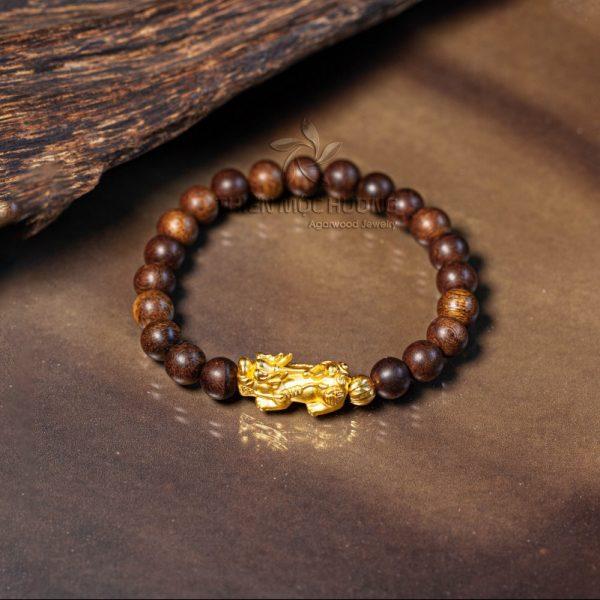 Philippines pixiu agarwood beaded bracelet