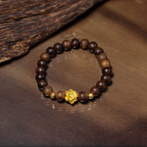 Philippines lotus agarwood beaded bracelet