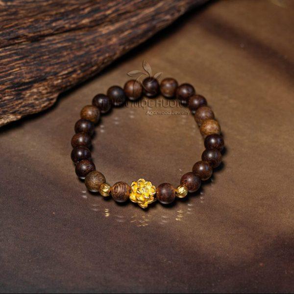 Philippines lotus agarwood beaded bracelet