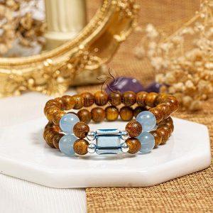 Guardian agarwood beaded bracelet