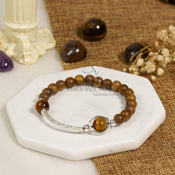Milky Way agarwood beaded bracelet