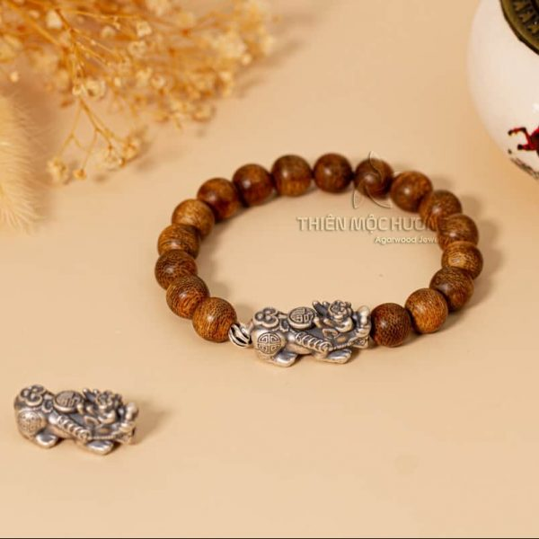 Pixiu bracelet with silver