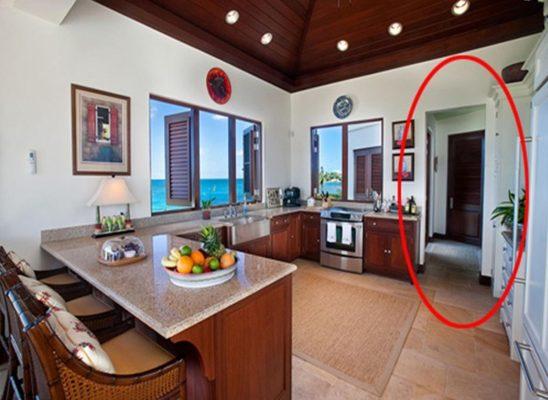 Feng shui kitchen should not face the bedroom door.