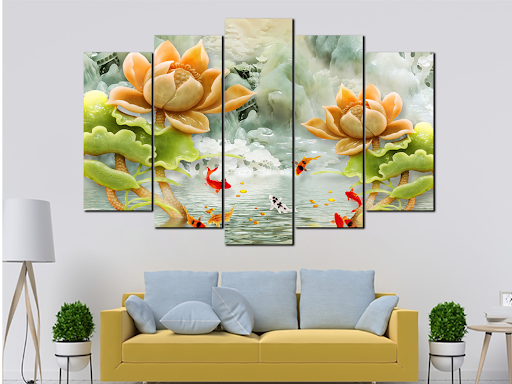 Hanging feng shui paintings in the living room