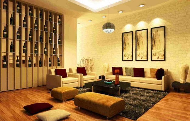 Paint of living room according to feng shui for Metal element