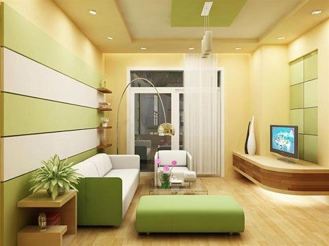 Paint for the living room according to feng shui for Wood element