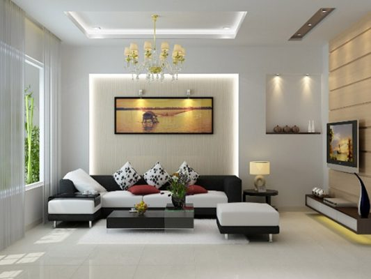 It is necessary to place the living room in the center of the house