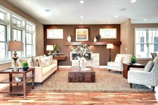 Paint for the living room according to feng shui for Earth element