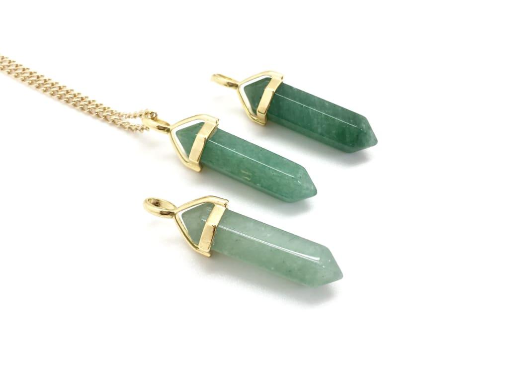 Necklaces - Green quartz stone: