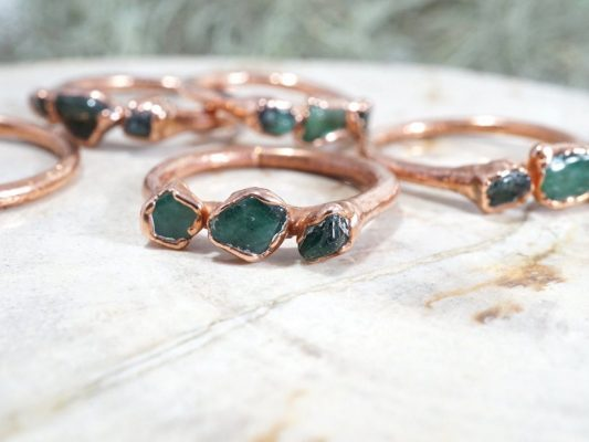Gemstone jewelry is rich in color and diverse in design