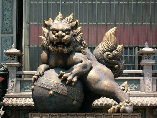 Foo Dog is one of the feng shui items that people use a lot today