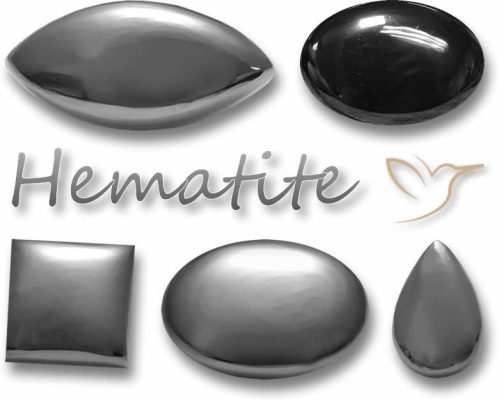 """The hematite stone meaning is """"blood-like"""""""